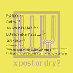 2013.04.13 sat. IWY  x post or dry? at METRO , Kyoto